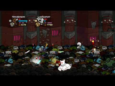 Castle Crashers Walkthrough Part 30 - Wizard Castle Takeoff - Necromancer Boss