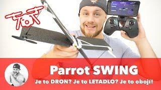 Je to DRON ????? Je to LETADLO ✈️? NE!  Je to Parrot Swing a přežije všechno... !!!