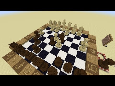 CHESS - Redstone / Command Block board in Minecraft - in development