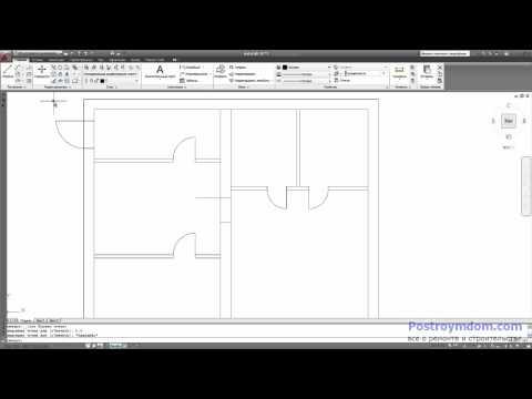 Видео как нарисовать проект дома