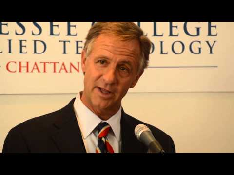 Gov. Bill Haslam at Chattanooga State Community College on September 27
