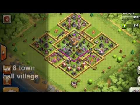 Best Town Hall Level 8 Defense Setup - Clash of Clans - WINS