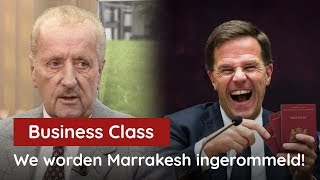 "Hiddema bij Business Class: ""We worden het Marrakesh Pact ingerommeld"""