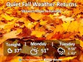 Quiet Weather Monday and Showers Tuesday