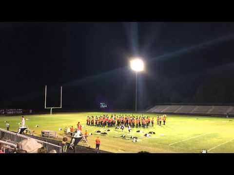 Monacan High School Marching Band at County Band Night 2014