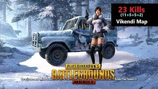 "[Hindi] PUBG Mobile | ""23 Kills"" With Squad In Vikendi Map Chicken Dinner"
