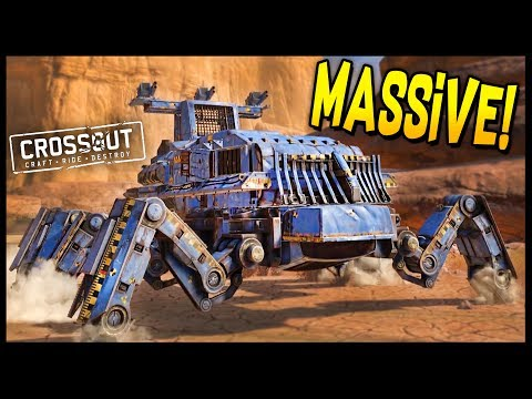 Crossout - MASSIVE SPIDER! 10,000 POWERSCORE LEVIATHAN KILLER! - Crossout Gameplay