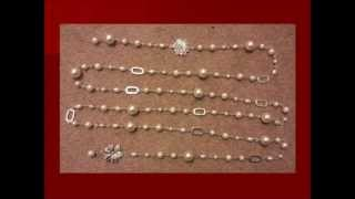 How to make beaded long pearl necklaces