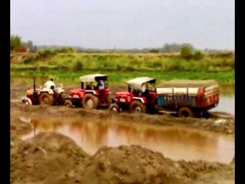 150 hp tractor pulling load of 17 ton