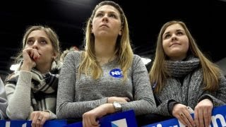 Which candidates have the support of young female voters?