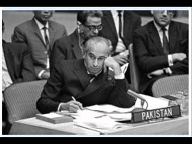 Zulfikar Ali Bhutto  Speech in emergency session of Security Council. Part 2of 2 (22-09-1965).wmv