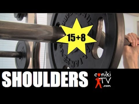 SHOULDERS LIKE BOULDERS 15+8 TEEN MUSCLE BODYBUILDING WORKOUT