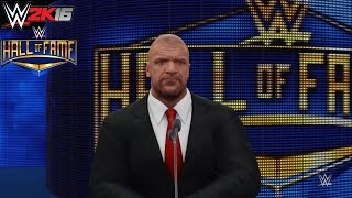 WWE 2K16 My Career Mode Hall of Fame Induction Cutscene (PS4)