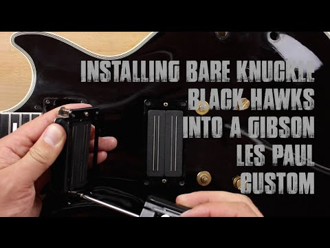 Gibson Les Paul Pickup Upgrade - Bare Knuckle Black Hawks