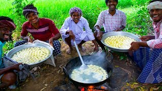 SWEET RASGULLA | Indian Dessert Recipe Cooking in Village | Milk Sweet Rasgulla Making Process