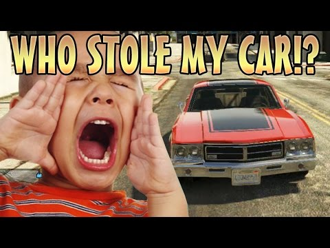 STEALING KIDS CAR WHILE INVISIBLE! (GTA 5 Funny Trolling)