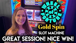 VERY LUCKY SESSION! Wheel of Fortune Gold Spin! Nice WIN!!