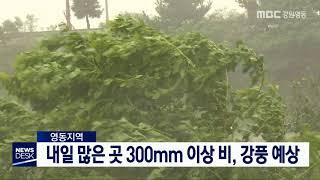 데스크)태풍 북상 최고 300mm 비