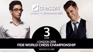 Svidler's Caruana-Carlsen Game 3 Analysis - 2018 FIDE World Chess Championship