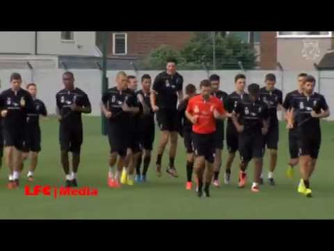 Exclusive video of Liverpool FC pre-season training at Melwood