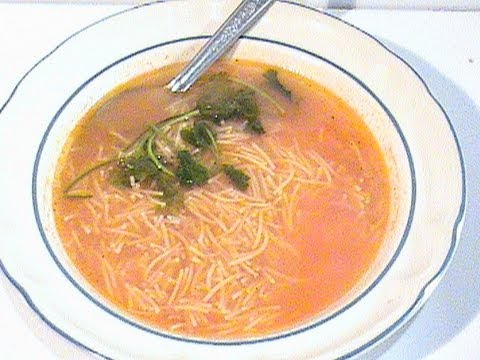 como preparar la rica sopa de fideo youtube