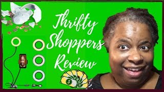 Thrifty Shoppers Review (ROVTOP Selfie Ring Light Cell Phone Holder)