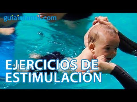 Primer contacto del beb con el agua ejercicios for Piscinas con patas
