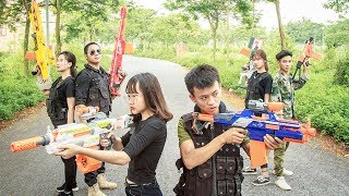 Nerf War Game : Special Police SWAT Nerf Guns Fight Attack criminal group Rescue Best Friend