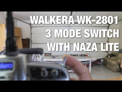 DJI NAZA Lite 3 Flight Modes with Walkera WK-2801 - GPS Attitude. Failsafe. and Manual Mode