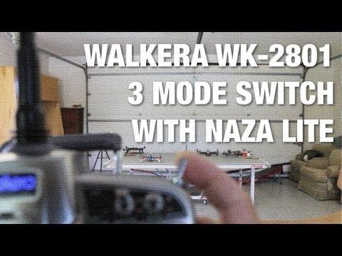 DJI NAZA Lite 3 Flight Modes with Walkera WK-2801 - GPS Attitude. Failsafe. and Manual Mode
