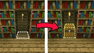CÁCH GIẤU RƯƠNG KHO BÁU DƯỚI SÀN NHÀ BÍ MẬT CỰC KÌ ĐƠN GIẢN TRONG MCPE | Minecraft PE 1.2