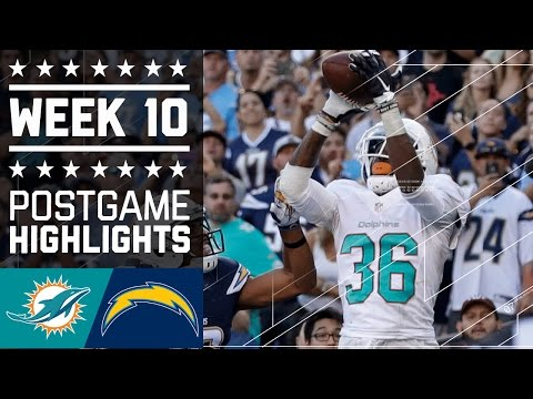 Dolphins Vs Chargers Nfl Week 10 Game Highlights