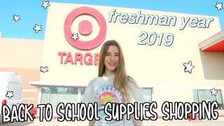 Back to School Supplies Shopping 2019// freshman year