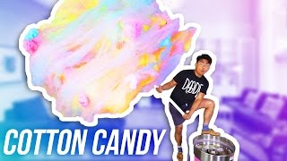 DIY WORLD'S GIANT COTTON CANDY EVER!