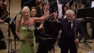 Sir James & Lady Jeanne Galway, Ada Pelleg conducting Paris Voxmusicorum Orchestra. Tel-Aviv 2016