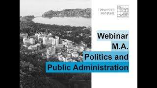 Webinar M.A. Politics and Public Administration (Englisch)