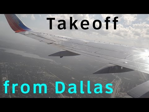 Southwest Airlines Boeing 737-300 Takeoff from Dallas Love Field to Albuquerque