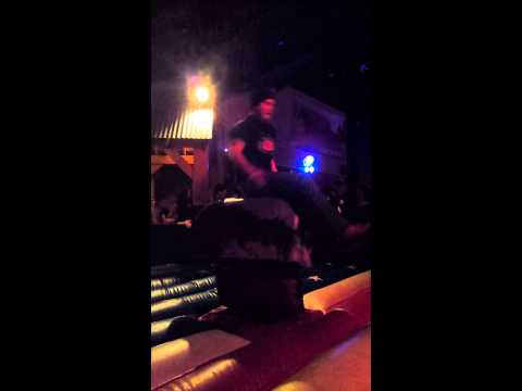Mechanical bull at Tequila Cowboy