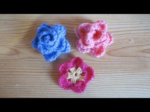 Flores pequeñas a crochet - Imagui