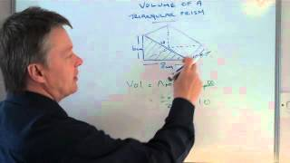 How to work out the volume of a triangular prism