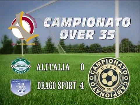 CAMPIONATO OVER 35 - SERIE A 7^ GIORNATA - ALITALIA VS DRAGO SPORT 0 - 4