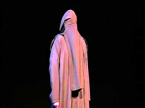 """Burka van het cabaret programma """"Anders"""" van Reinder van der Naalt"""