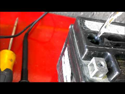 Revive old motorcycle battery Epsom Salt