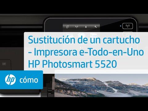 Sustitución de un cartucho - Impresora e-Todo-en-Uno HP Photosmart 5520