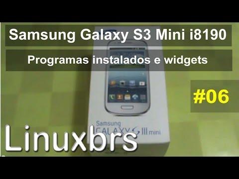 Samsung Galaxy S III Mini i8190 - Review - Programas Instalados e Widgets - PT-BR Brasil