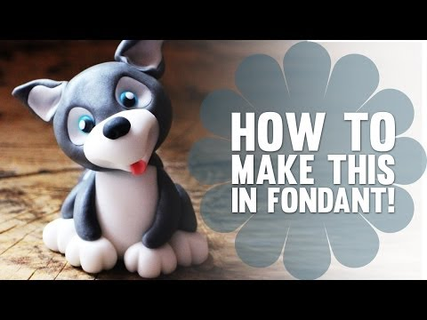 Digging Dog Cake Decoration : How To Make A Fondant Dog Part 1