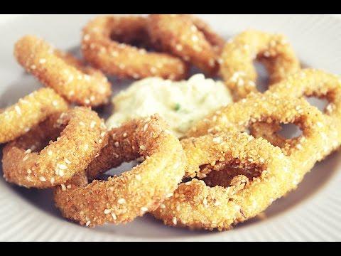 Кольца кальмара в кляре ♥ Кальмары фри / Fried Calamari Recipe