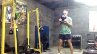 KB Swing, Goblet Squat, Offset March Complex