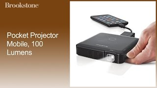 Pocket Projector Mobile, 100 Lumens Complete How to Video