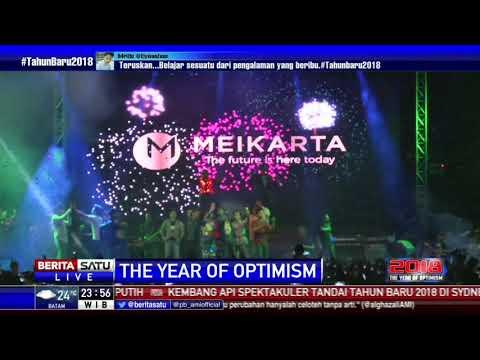 Pesta Kembang Api Malam Tahun Baru 2018 di Meikarta